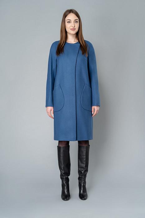 7c2035f2806 Драповое женское пальто купить в интернет магазине Элема
